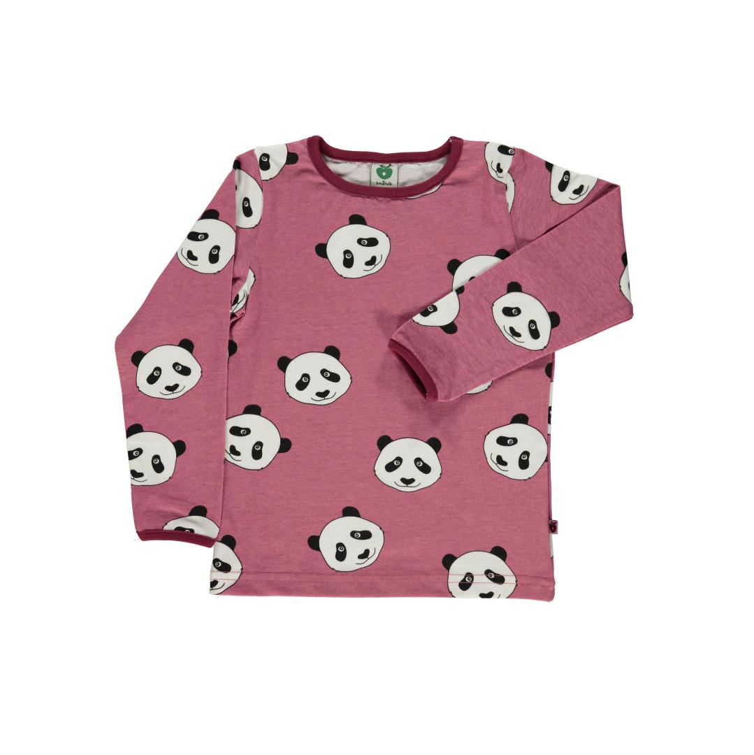 SMAFOLK Kinder Langarm Shirt Panda Gesicht - 1