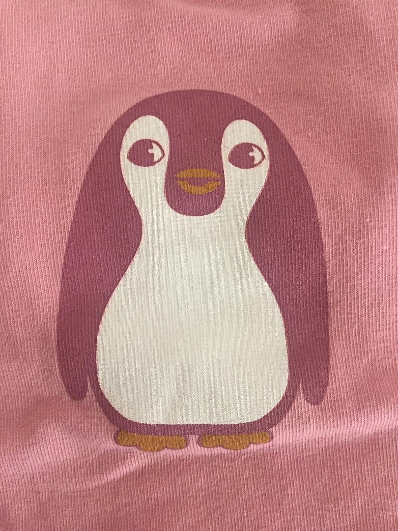 Smafolk Baby Body Langarm Baby Pinguin Birdal Rose - 4