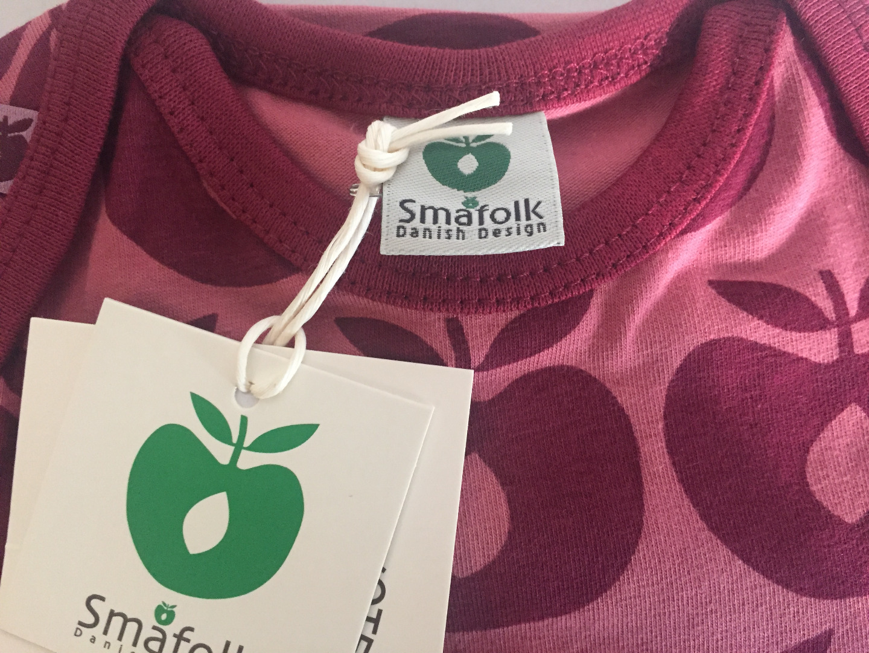 Smafolk Baby Strampler Spieler Jumpsuit Äpfel Mesa Rose - 2