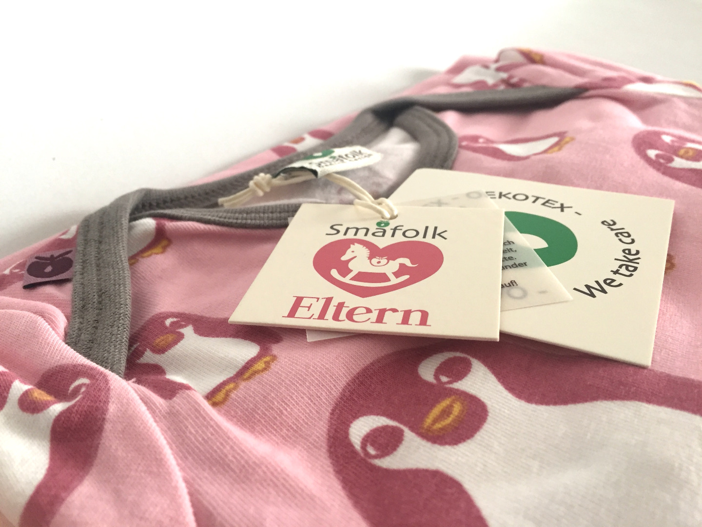 Smafolk Baby Strampler Spieler Jumpsuit ELTERN mit baby Pinguine Bridal rose