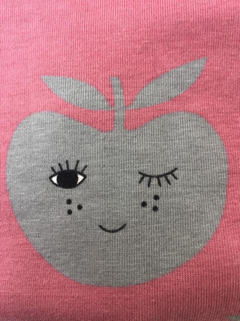 SMAFOLK Kinder Shirt l/s rosa mit Apfelgesicht