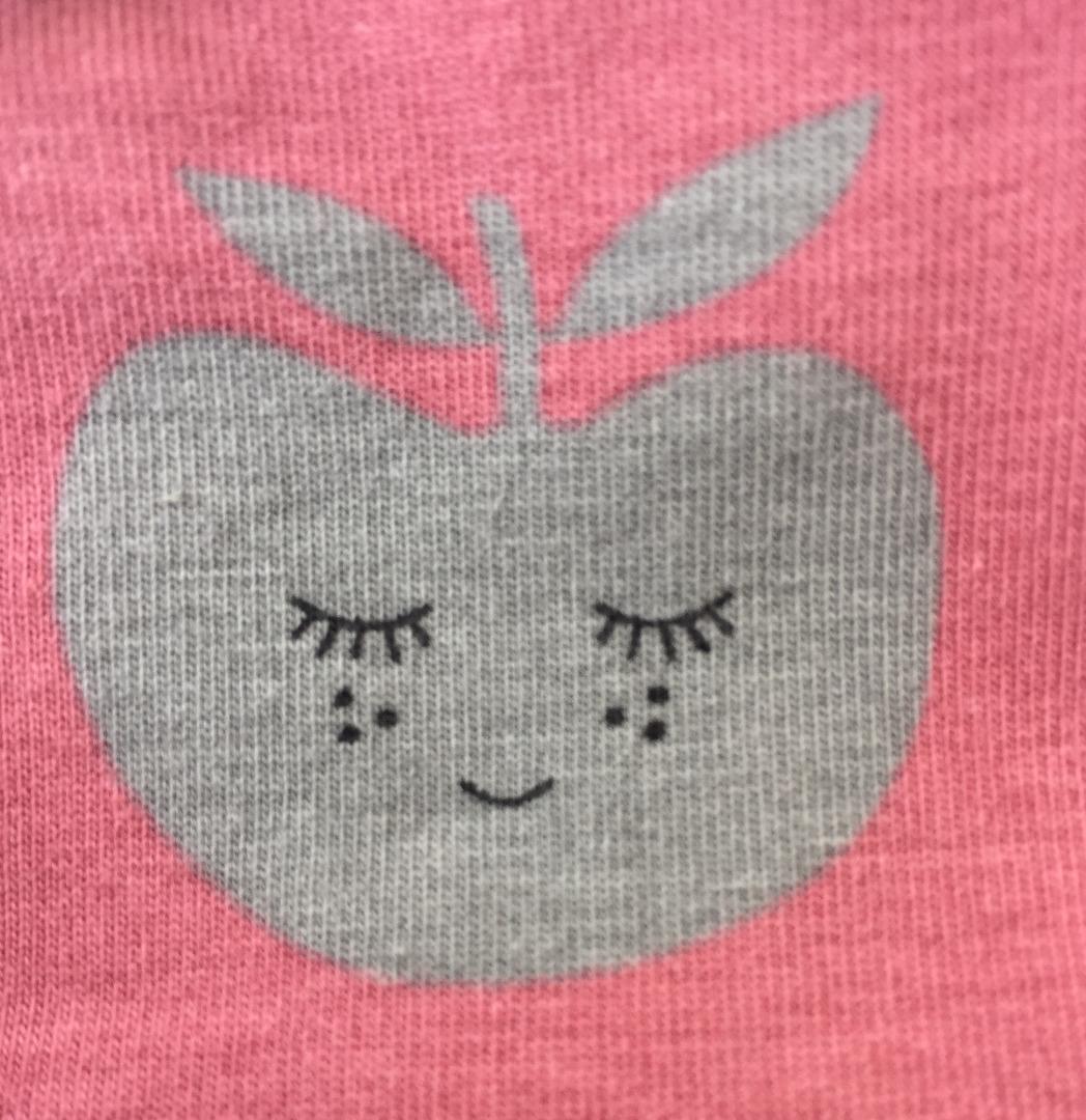 SMAFOLK Kinder Shirt l/s rosa mit Apfelgesicht - 3