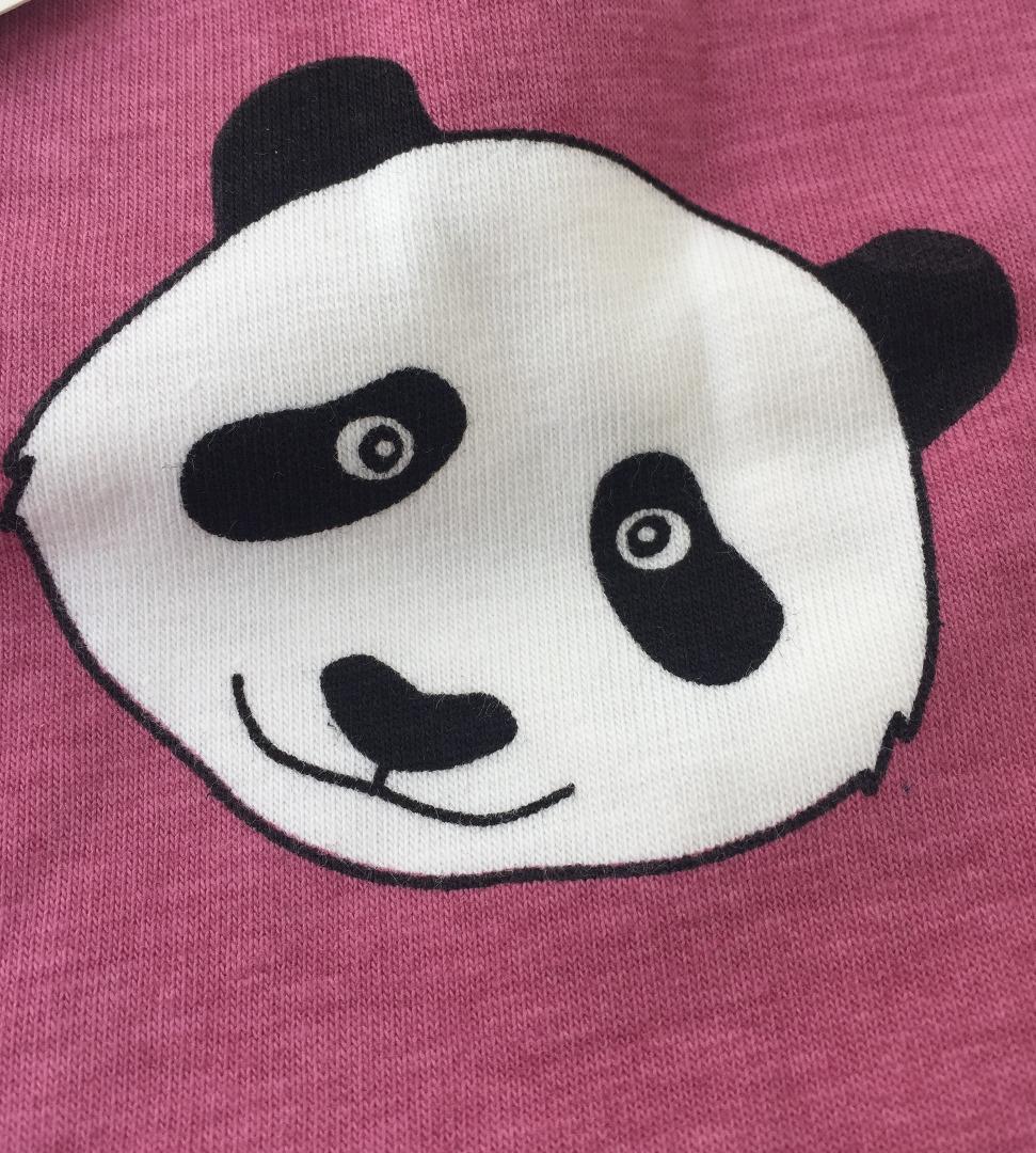 SMAFOLK Kinder Langarm Shirt Panda Gesicht - 4