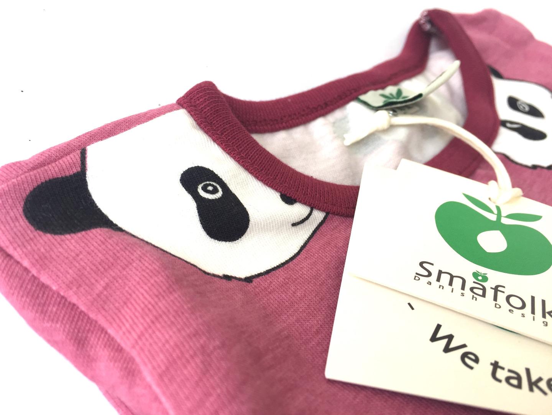 SMAFOLK Kinder Langarm Shirt Panda Gesicht