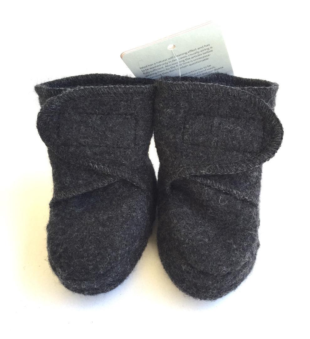 DISANA Walk-Babyschuhe anthrazit 100 Schurwolle