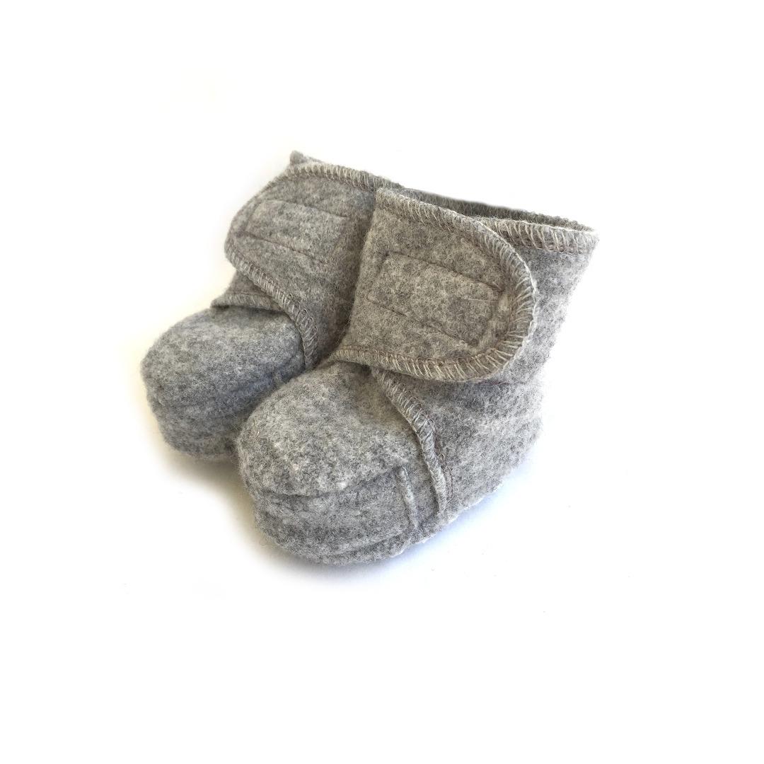 DISANA Walk-Babyschuhe grau 100 Schurwolle