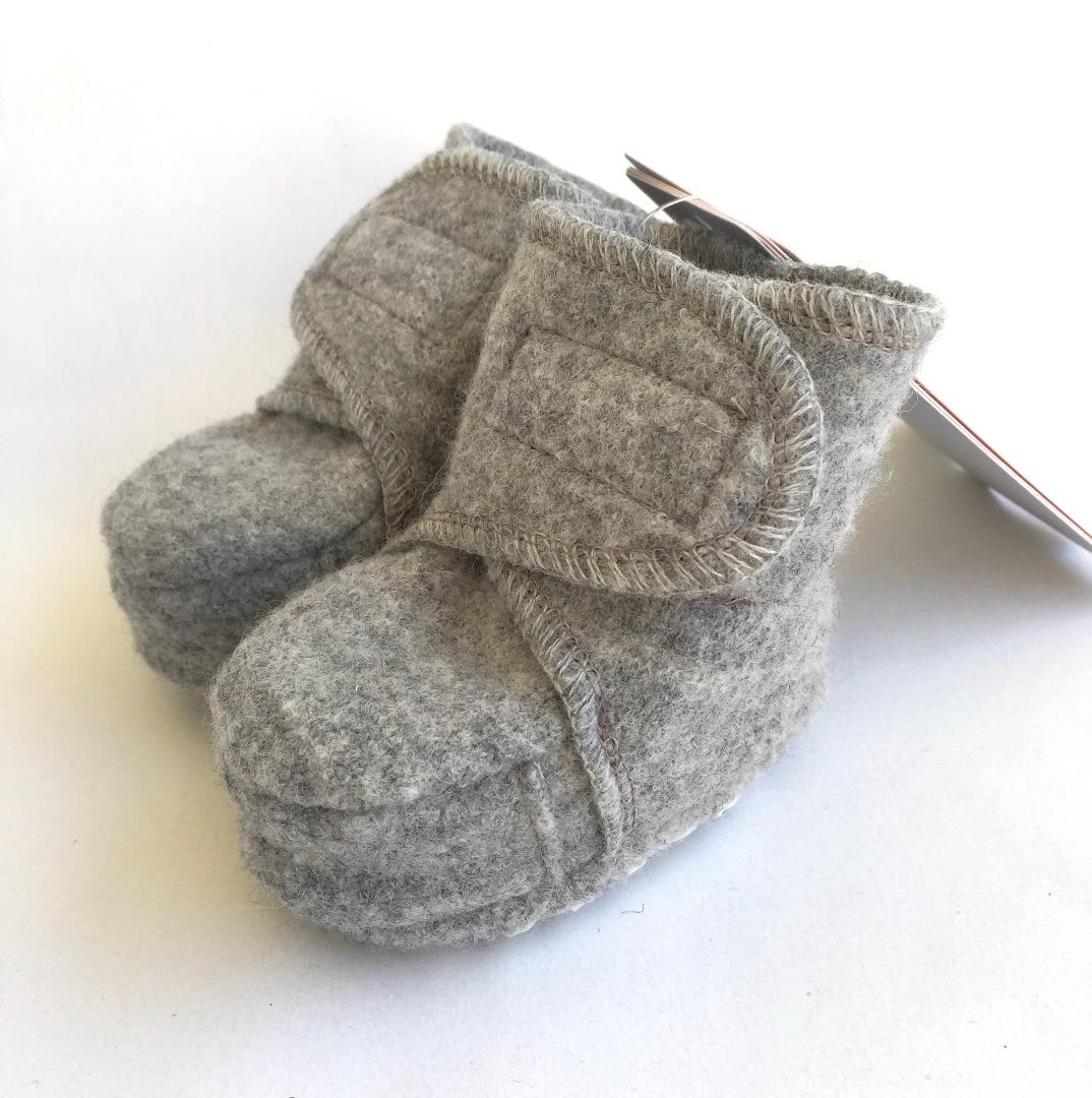 DISANA Walk-Babyschuhe grau 100 Schurwolle kbT - 4