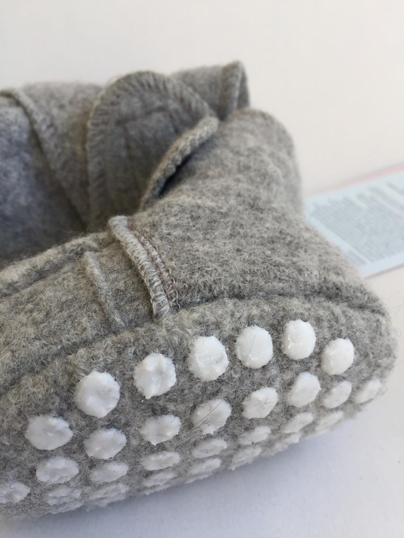 DISANA Walk-Babyschuhe grau 100 Schurwolle kbT - 5