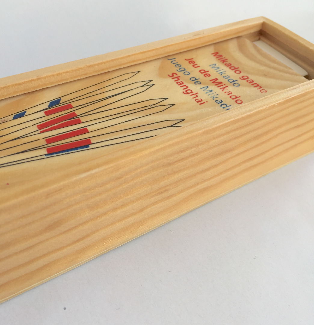 Mikado Mikadospiel 41 Stäbe im Holzkasten
