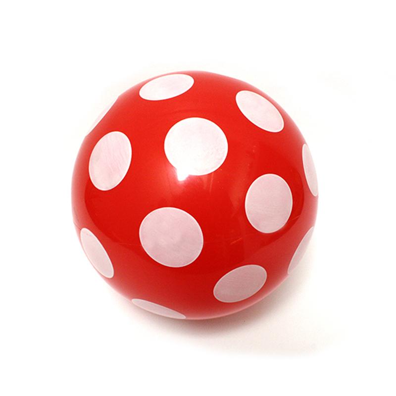 Spielball Rot Froehliche Tupfen gross