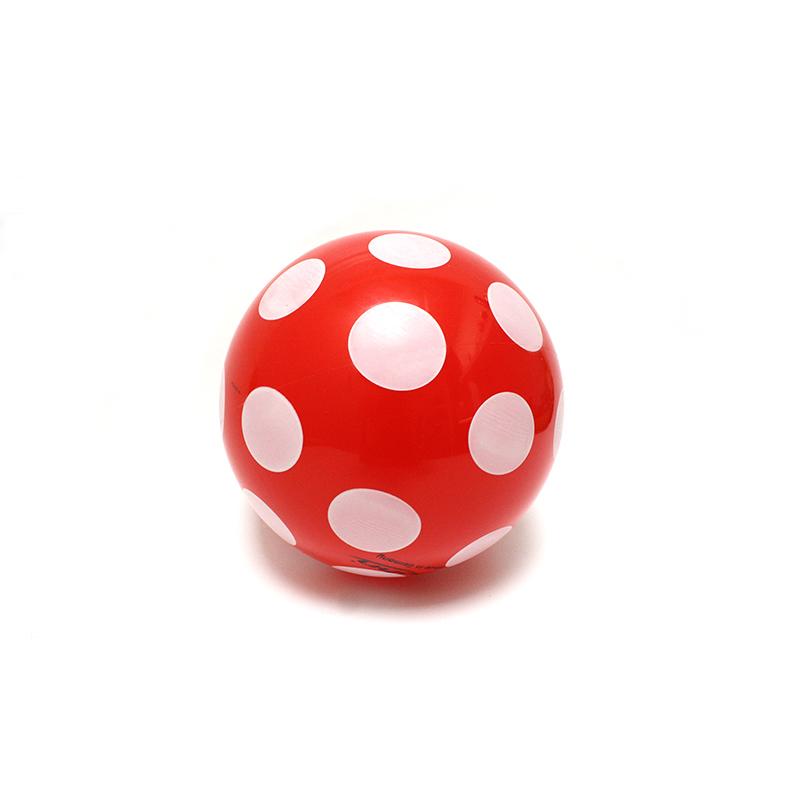 Punktball 14 cm rot-weiss klein