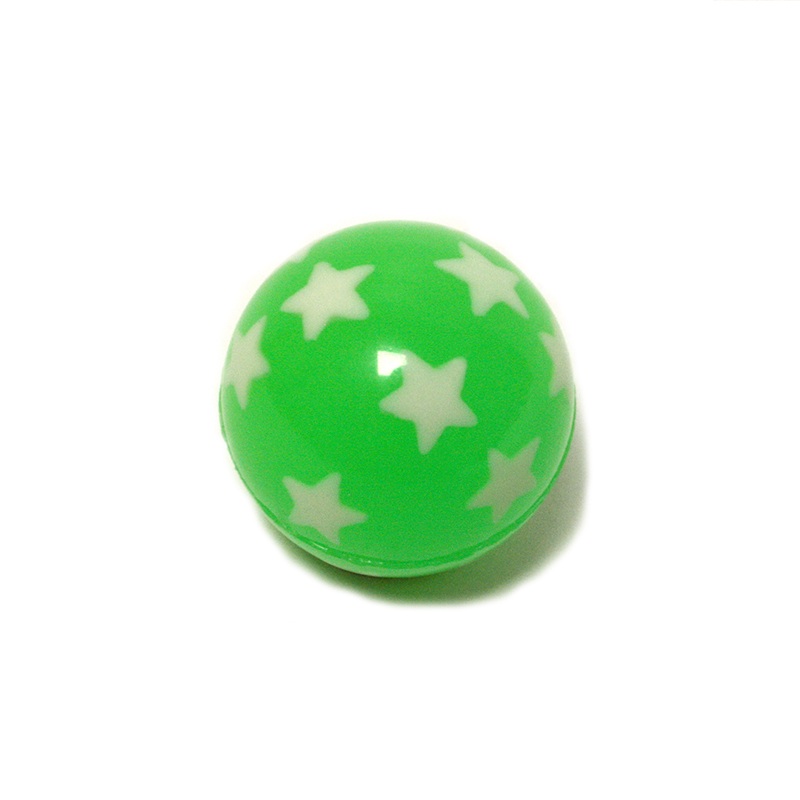Flummi grün mit Sternen