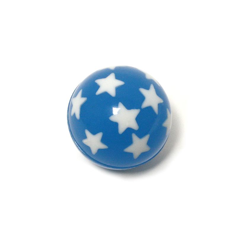 Flummi blau mit Sternen