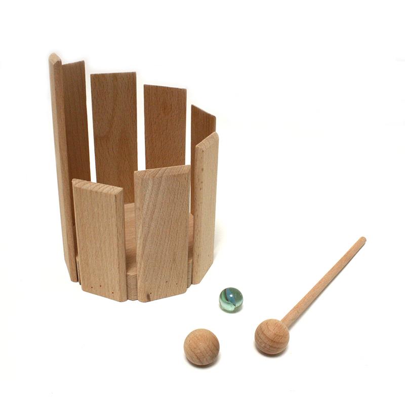 Klangtrommel mit Kugel Murmel und Schlegel