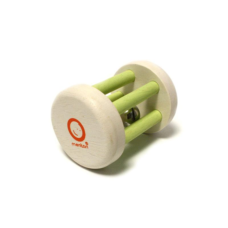 Rassel Small foot grün mit Glöckchen - 1