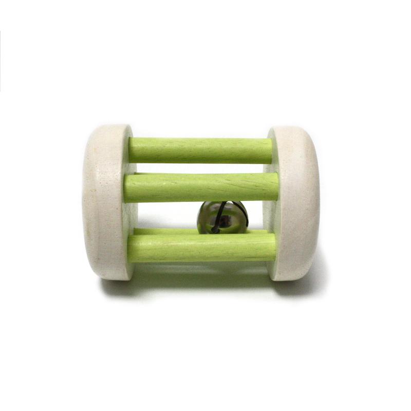 Rassel Small foot grün mit Glöckchen
