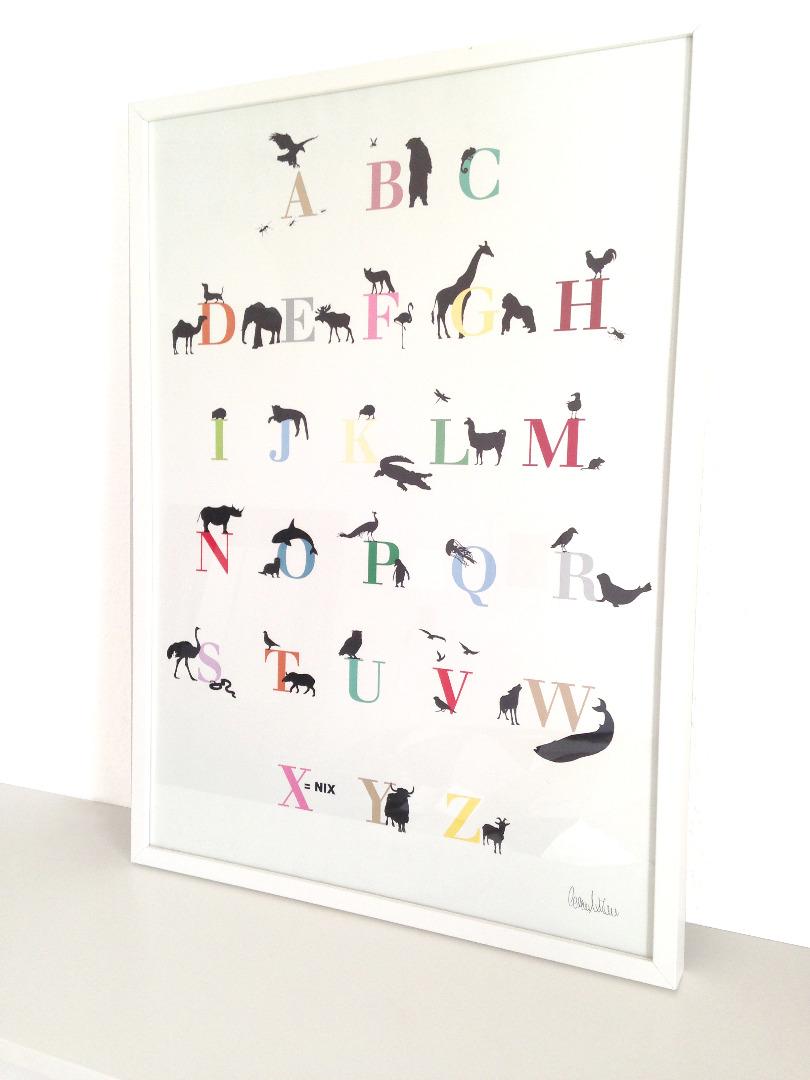 ENGELWERK ABC Poster Tiere 50 x 70 cm