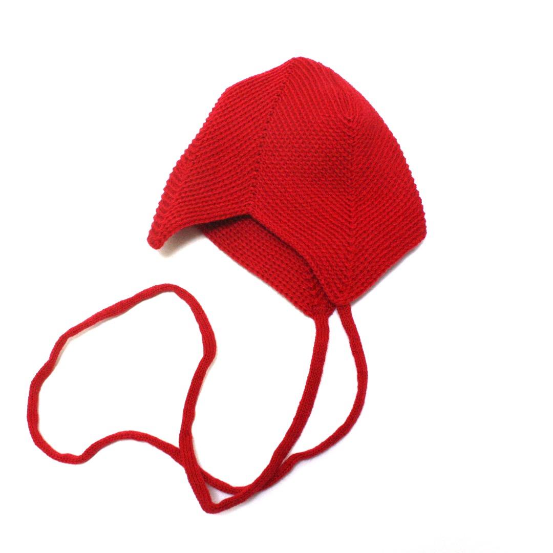 REIFF STRICK Baby Mütze Teufelsmütze burgund - 1