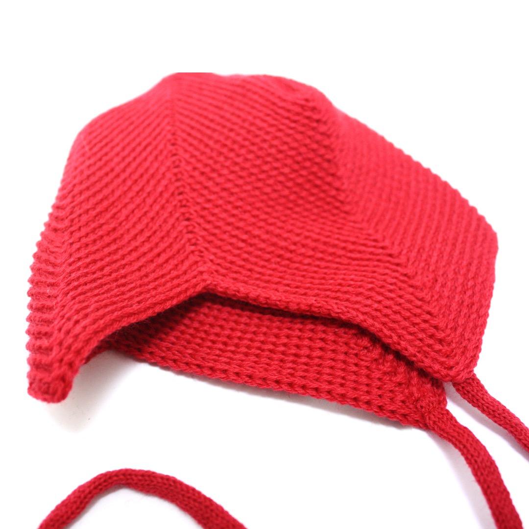 REIFF STRICK Baby Mütze Teufelsmütze burgund - 2