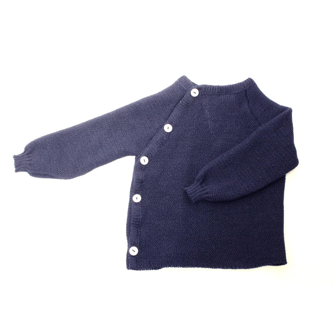 REIFF STRICK / Baby Pullover Schlüttli marine 74-92 Merino-Schurwolle kbT - 1