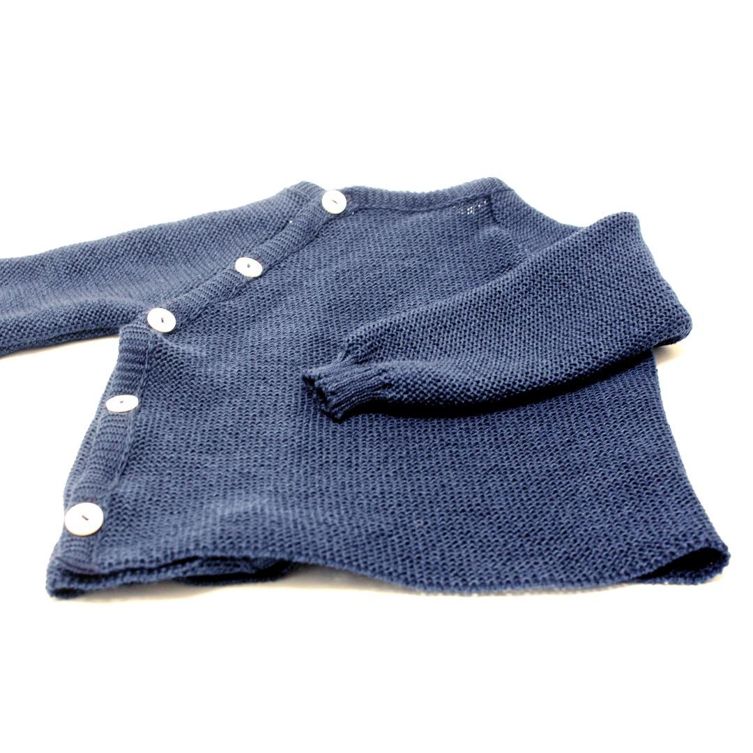 REIFF STRICK / Baby Pullover Schluettli marine 74-92 Merino-Schurwolle kbT