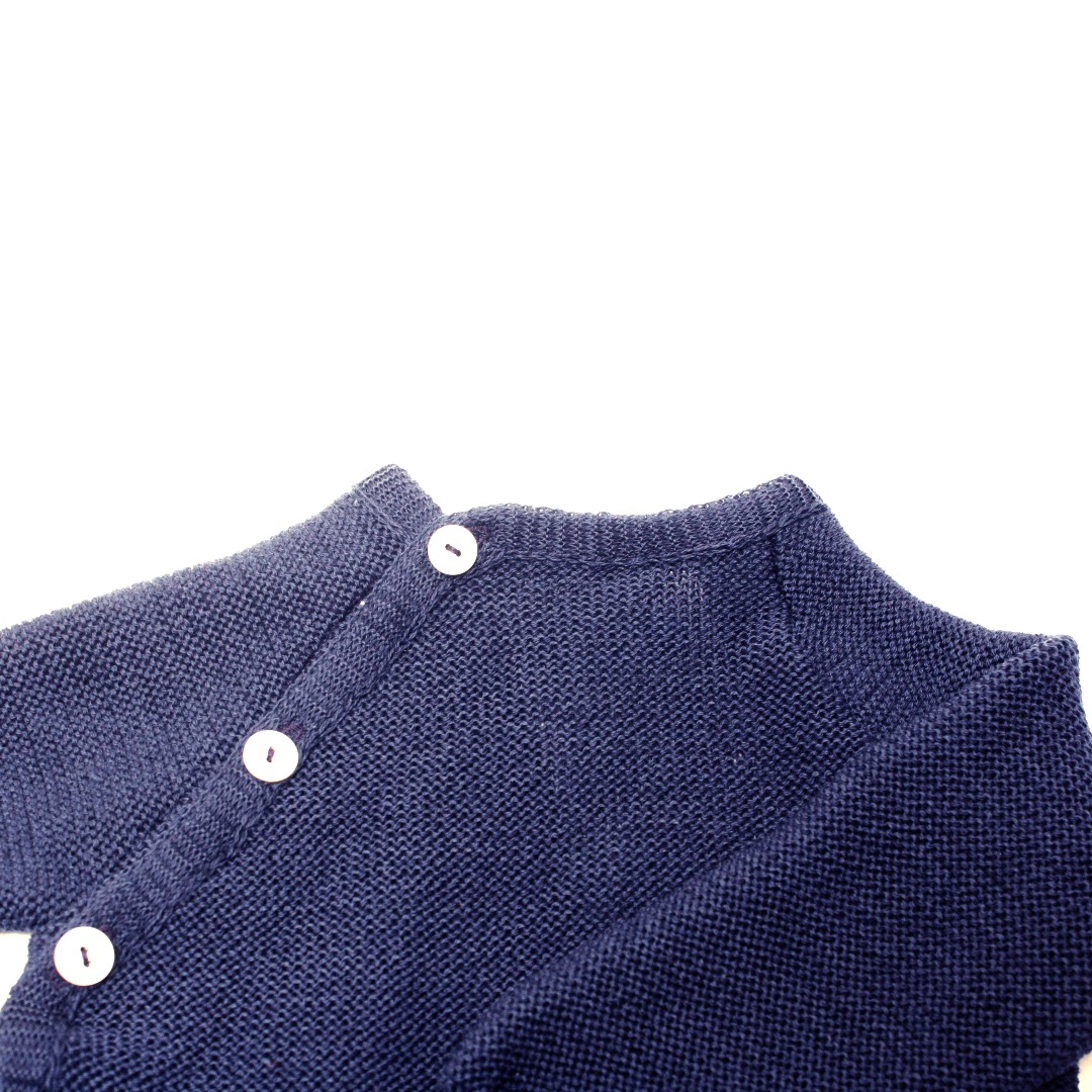 REIFF STRICK / Baby Pullover Schlüttli marine 74-92 Merino-Schurwolle kbT - 3