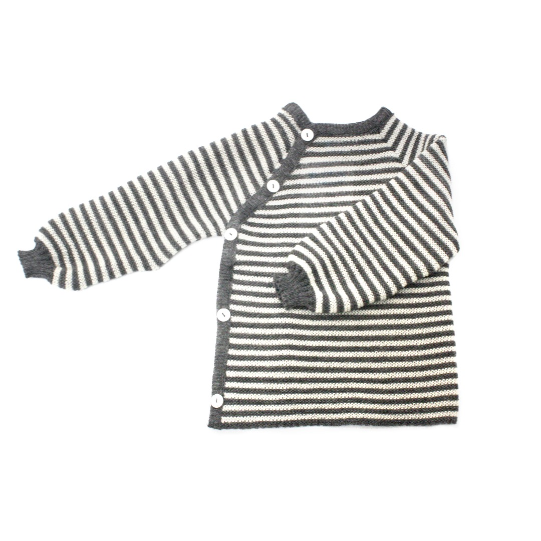 REIFF STRICK / Baby Pullover Schlüttli fels/natur 74-92 Merino-Schurwolle kbT - 1
