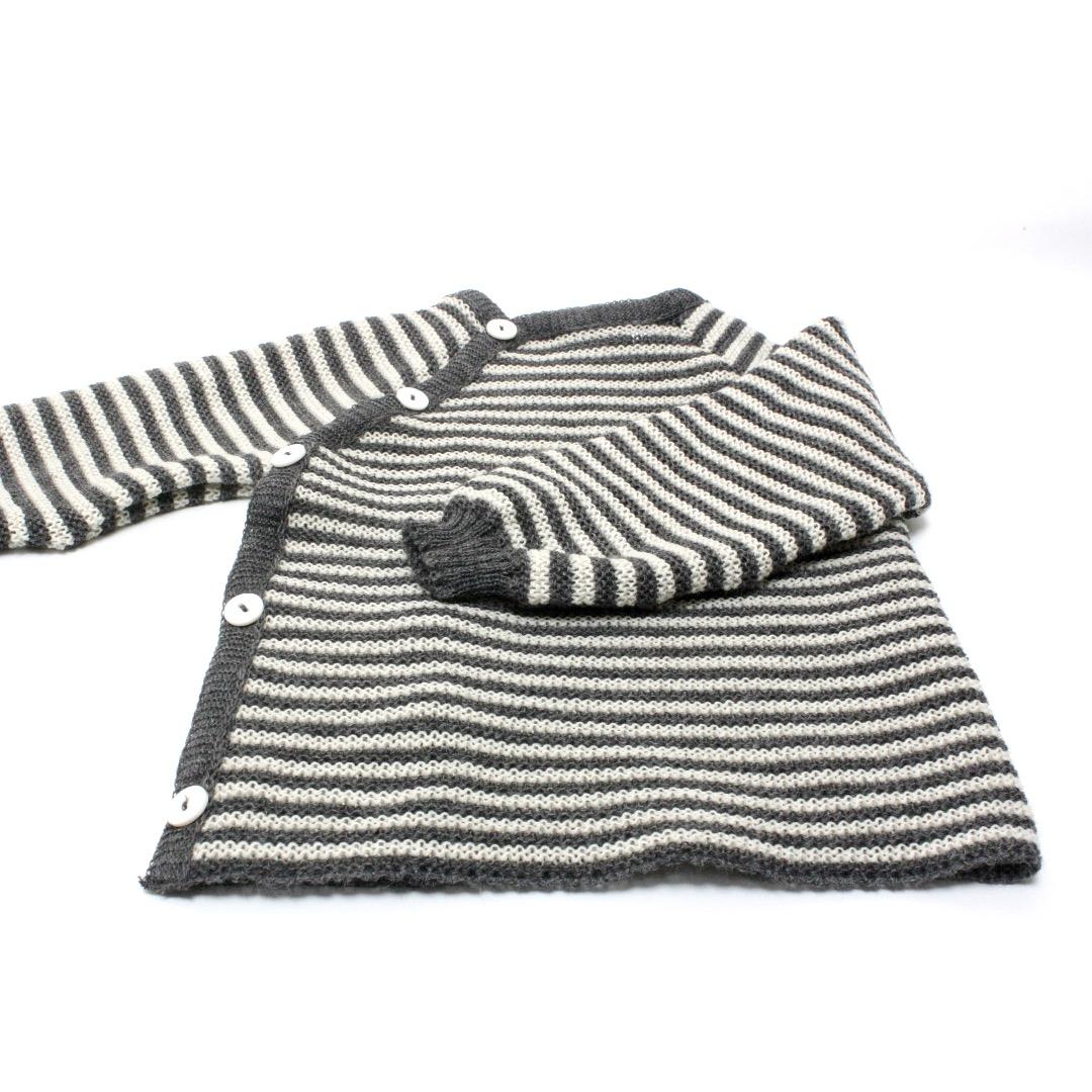 REIFF STRICK / Baby Pullover Schlüttli fels/natur 74-92 Merino-Schurwolle kbT - 2