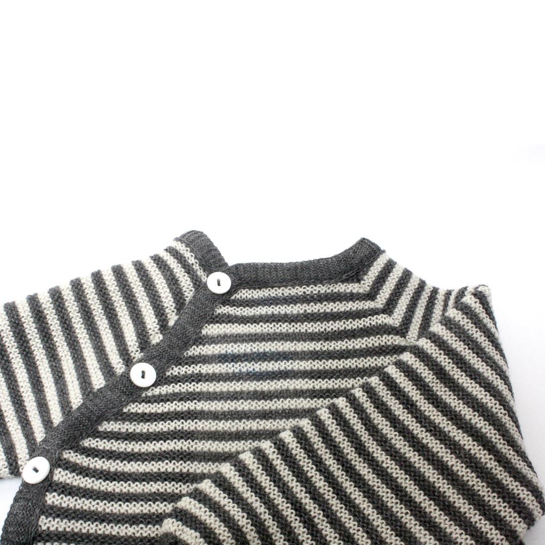 REIFF STRICK / Baby Pullover Schlüttli fels/natur 74-92 Merino-Schurwolle kbT - 3