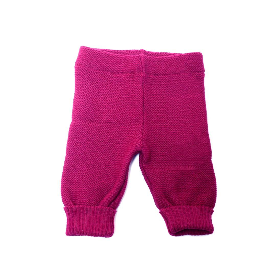 REIFF STRICK / Baby Leggings Hose beere 74-92 Merino-Schurwolle kbT