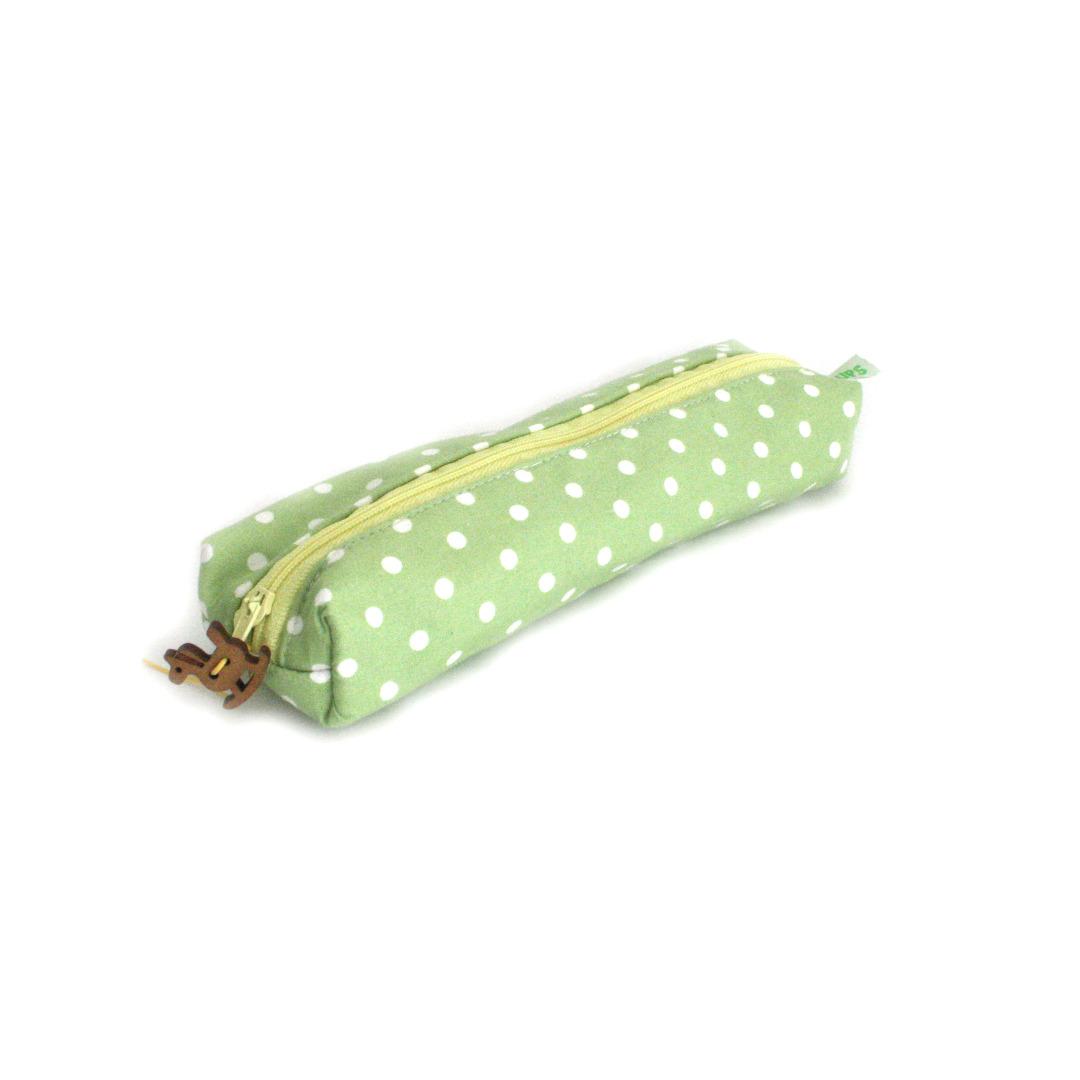HickUps Stiftemappe Canvas Schmetterlinge grün mit