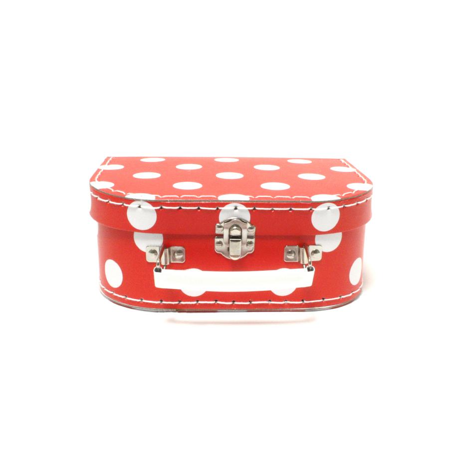 Koffer rot mit weissen Punkten klein - 2