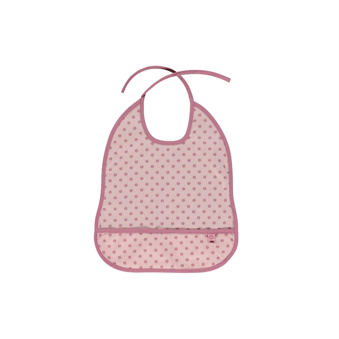 Smafolk Baby Latz Laetzchen abwaschbar Sliver Pink GOTS