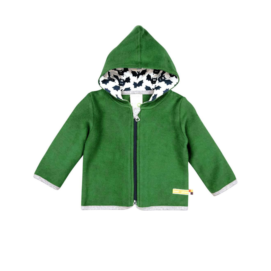 LOUD PROUD Baby Jacke Fleece Gruen Pine