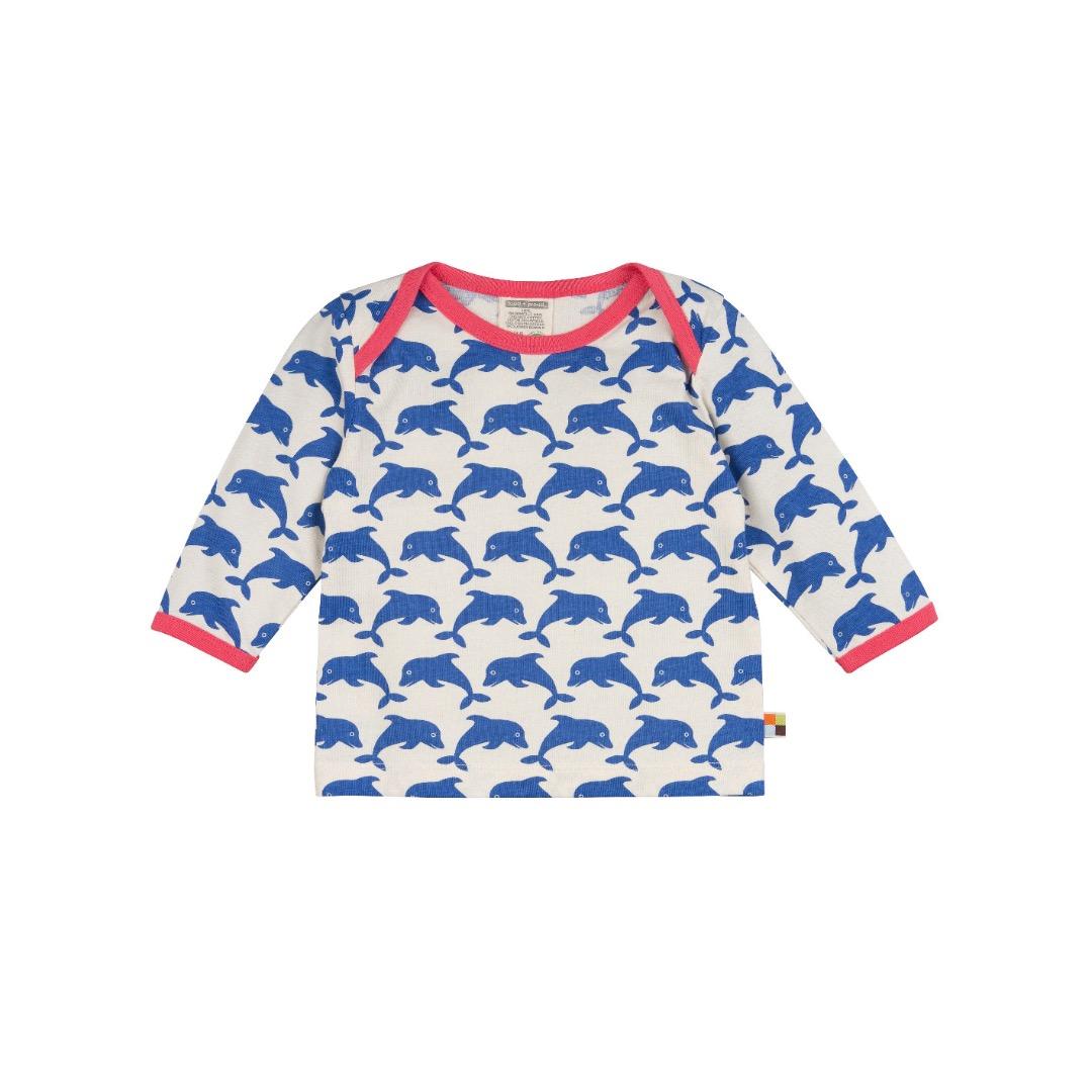 LOUD PROUD Baby Langarm-Shirt Delfine pacific - 1