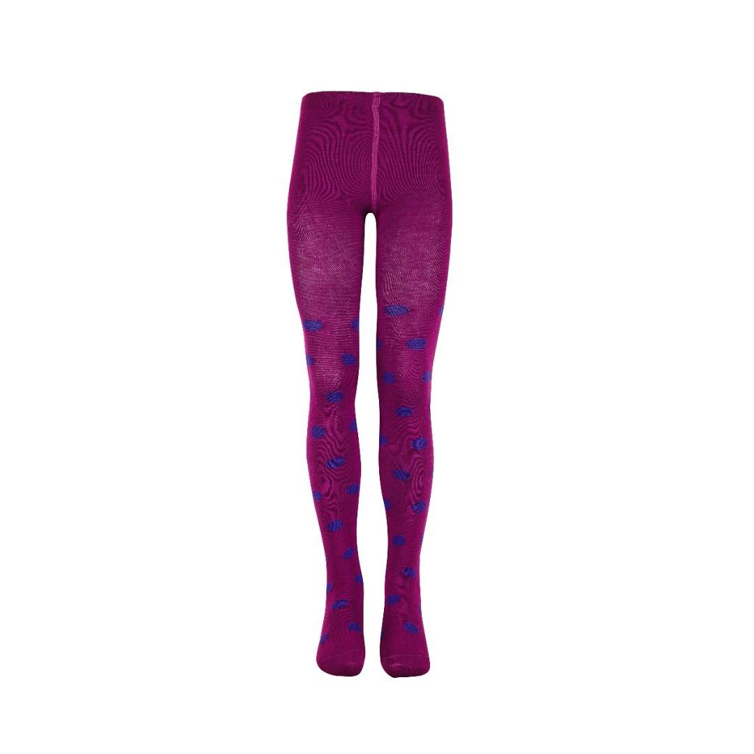 Mala Maedchen Strumpfhose purple/lila Punkte