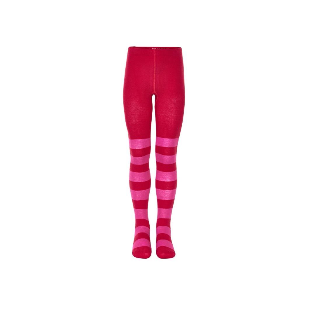 Mala Maedchen Strumpfhose rot/pink Blockstreifen
