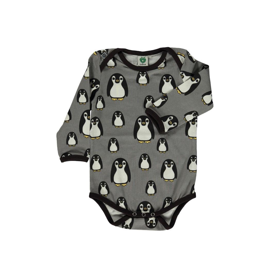 Smafolk Baby Boby Langarm Pinguine Wilde