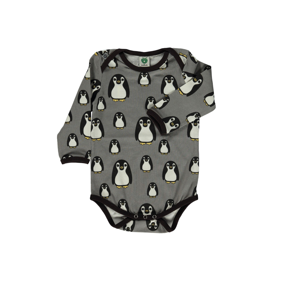 Smafolk Baby Boby Langarm Pinguine Wilde Dove