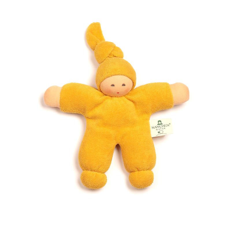 NANCHEN NATUR Puppe Pimpel gelb Bio Baumwolle, öko Made in Germany - 1