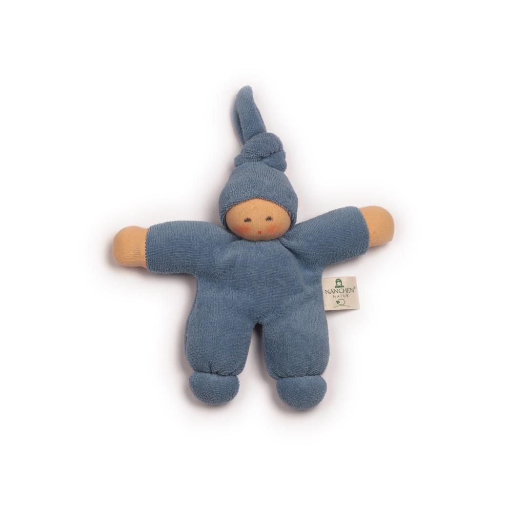 NANCHEN NATUR Puppe Pimpel blau Bio
