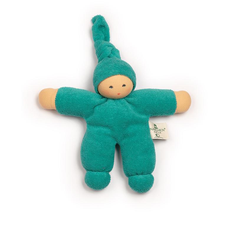 NANCHEN NATUR Puppe Pimpel türkis Bio