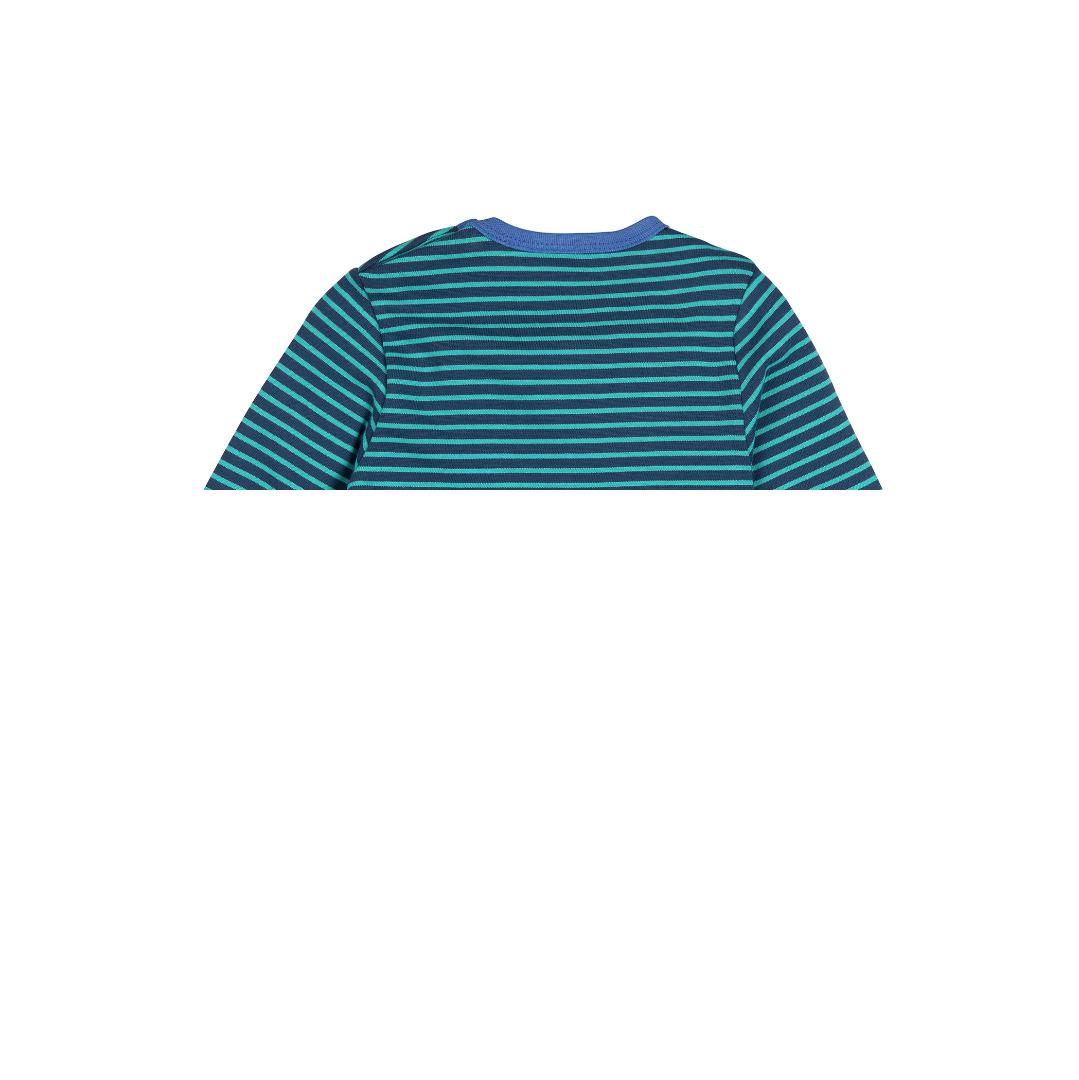 LOUD PROUD Shirt geschmirgelt Ringel Ultramarin