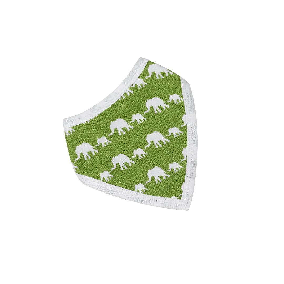 PIGEON Babyhalstuch Wendehalstuch BIO Baumwolle Elefant gruen Laetzchen