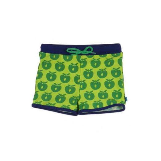 SMAFOLK Kinder Badehose grün Äpfel 86-92 - 1