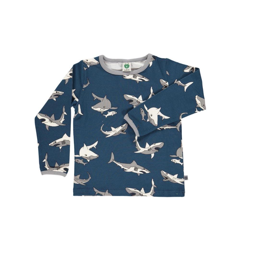 SMAFOLK Kinder Shirt l/s dunkelblau mit
