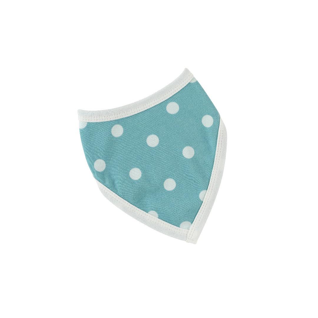 PIGEON Babyhalstuch Wendehalstuch BIO Baumwolle Tupfen blau Laetzchen