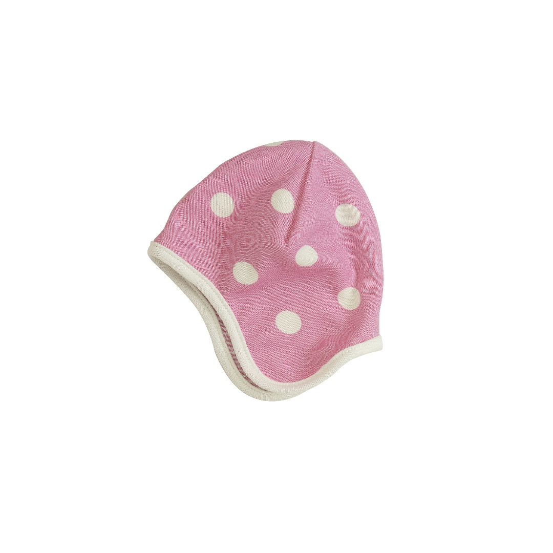 PIGEON Babymütze Wendemütze Tupfen rosa Bio - 1