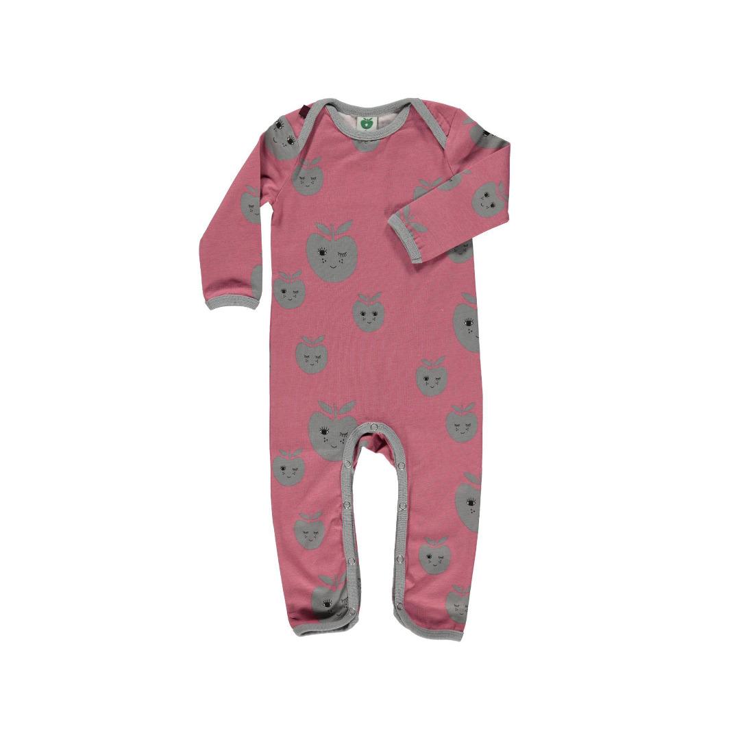 Smafolk Baby Strampler Spieler Jumpsuit Apfel - 1