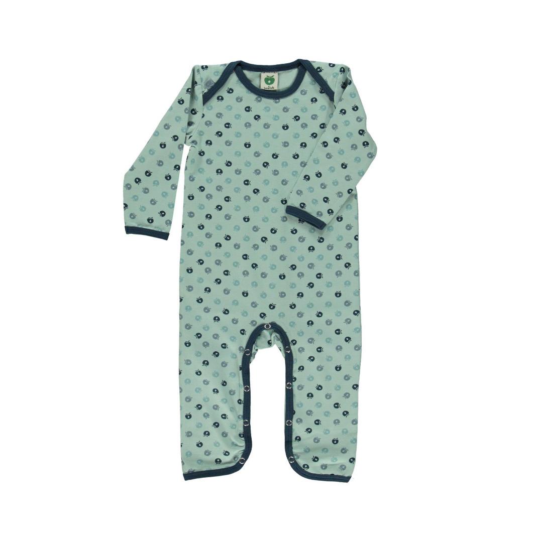 Smafolk Baby Strampler Spieler Jumpsuit mini Äpfel Ether - 1